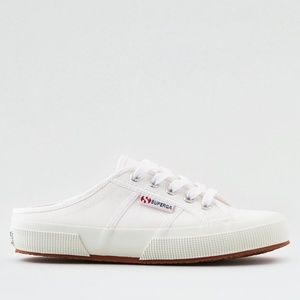 NEW SUPERGA 2402 COTW SLIDE SNEAKERS 6.5 White